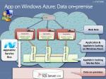 app on windows azure data on premise