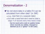 denormalization 2