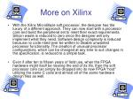 more on xilinx