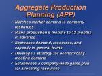 aggregate production planning app