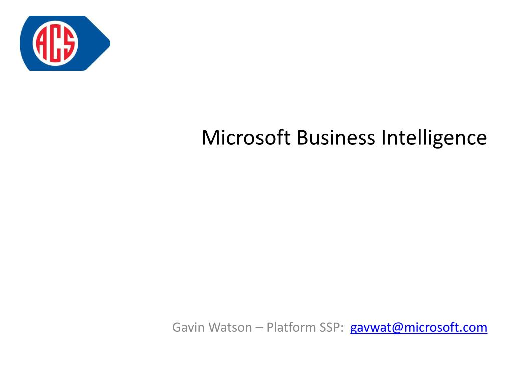 microsoft business intelligence l.