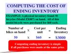 computing the cost of ending inventory