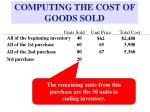 computing the cost of goods sold10