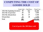 computing the cost of goods sold11