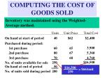 computing the cost of goods sold12