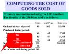 computing the cost of goods sold15