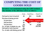 computing the cost of goods sold16