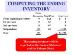 computing the ending inventory1