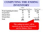 computing the ending inventory2
