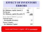 effect of inventory errors16