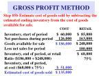 gross profit method10