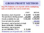 gross profit method9