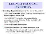 taking a physical inventory