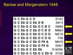 barlow and morgenstern 19491