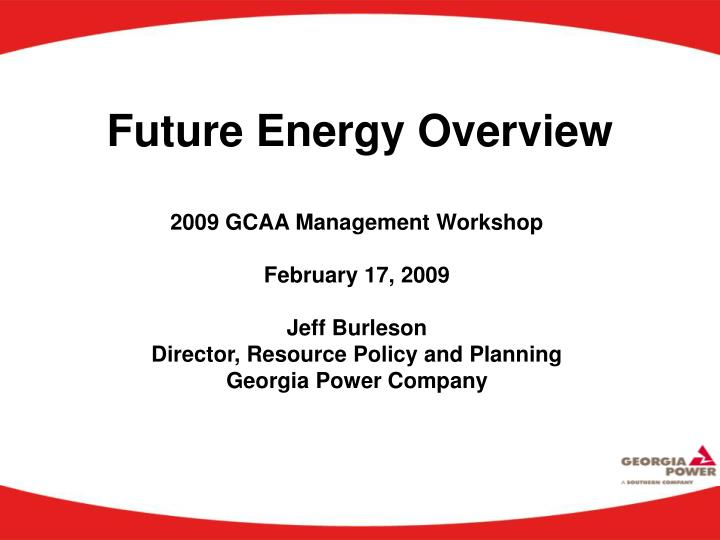future energy overview n.