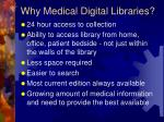 why medical digital libraries