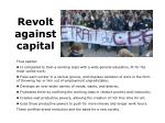 revolt against capital