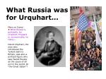 what russia was for urquhart
