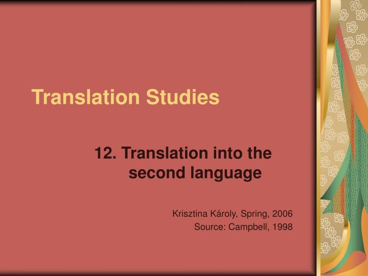 translation studies n.