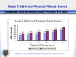 grade 5 sat 9 and physical fitness scores