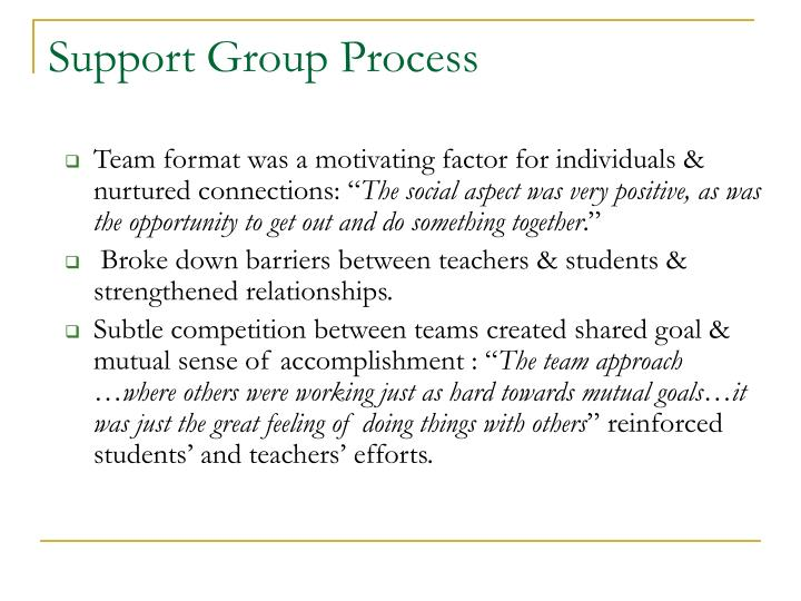 Support Group Process