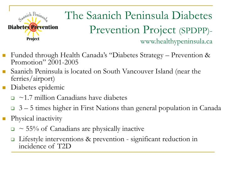 The saanich peninsula diabetes prevention project spdpp www healthypeninsula ca