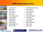 fhwa subject matter experts