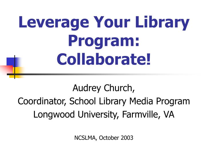 leverage your library program collaborate n.