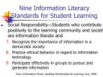 nine information literacy standards for student learning2