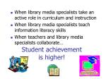 student achievement is higher