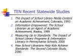 ten recent statewide studies