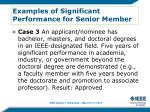 examples of significant performance for senior member2