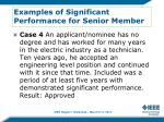 examples of significant performance for senior member3