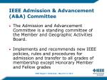 ieee admission advancement a a committee