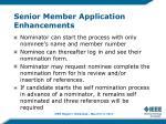 senior member application enhancements1