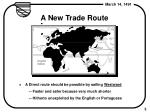 a new trade route