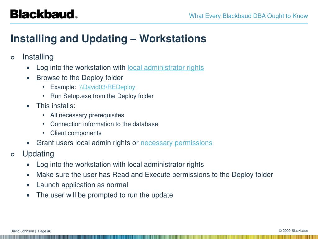 Installing and Updating – Workstations