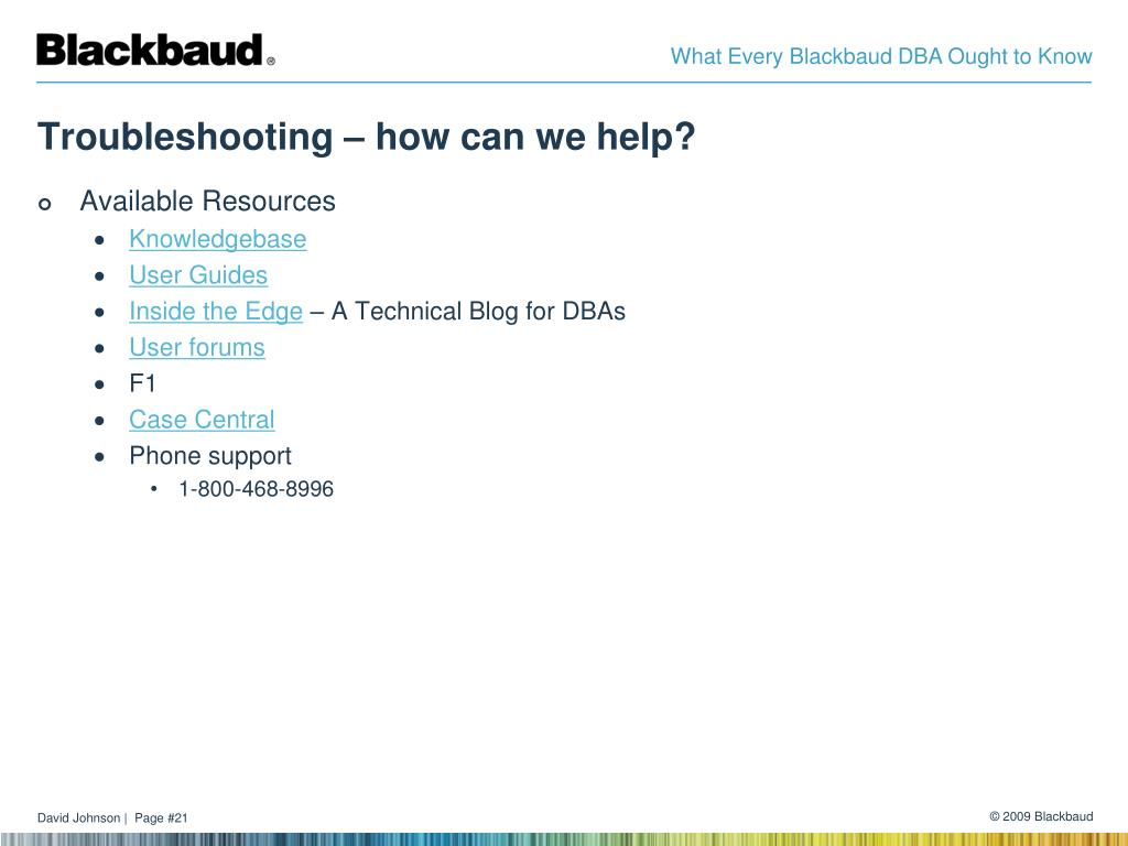 Troubleshooting – how can we help?
