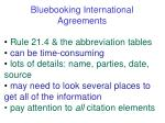 bluebooking international agreements
