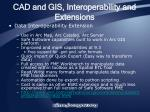 cad and gis interoperability and extensions