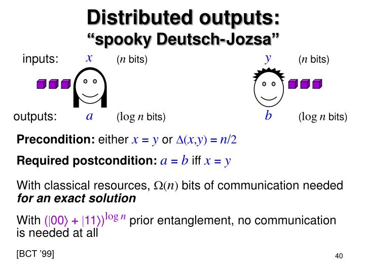 Distributed outputs: