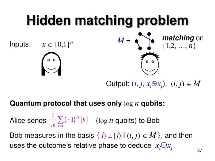 Quantum protocol that uses only