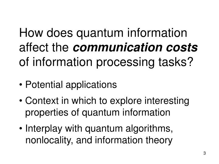How does quantum information affect the