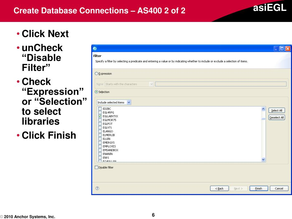 Create Database Connections – AS400 2 of 2