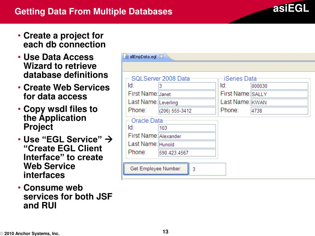 Getting Data From Multiple Databases