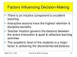 factors influencing decision making