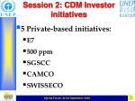 session 2 cdm investor initiatives1