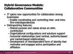 hybrid governance models collaborative communities