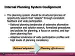 internal planning system coalignment