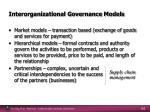 interorganizational governance models